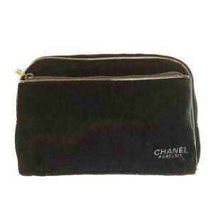Chanel velvet cosmetic bag